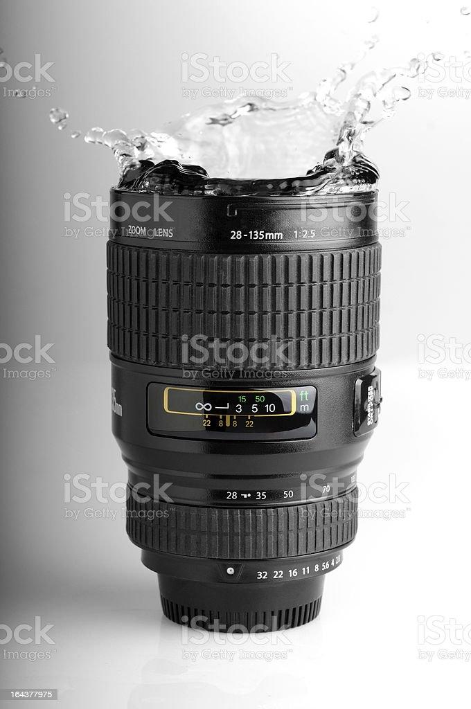 Lens Splash royalty-free stock photo