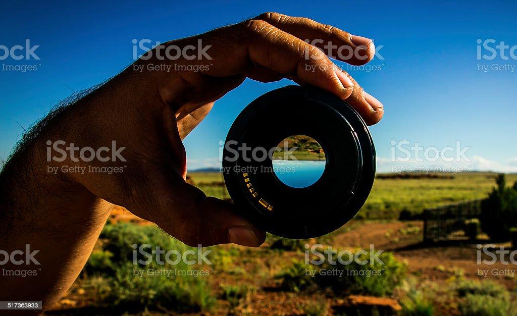 Lens view stock photo