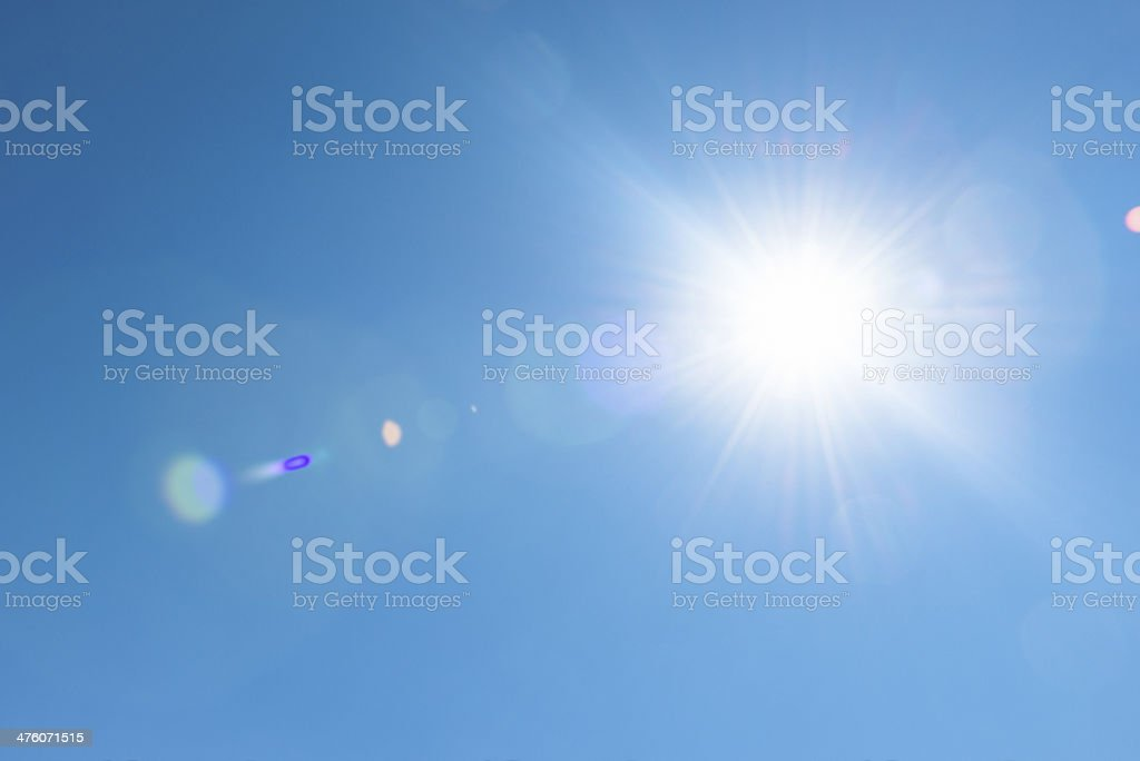 lensflare sunbeam stock photo