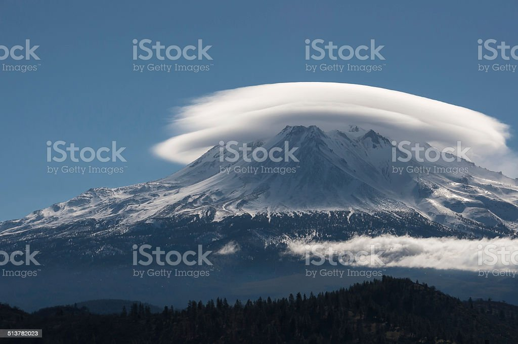 Lenticular Cloud stock photo