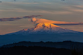 Lenticular Clouds over Mount Hood