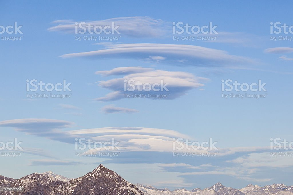 Lenticular clouds royalty-free stock photo