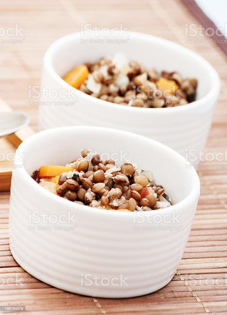 lentil in bowl royalty-free stock photo