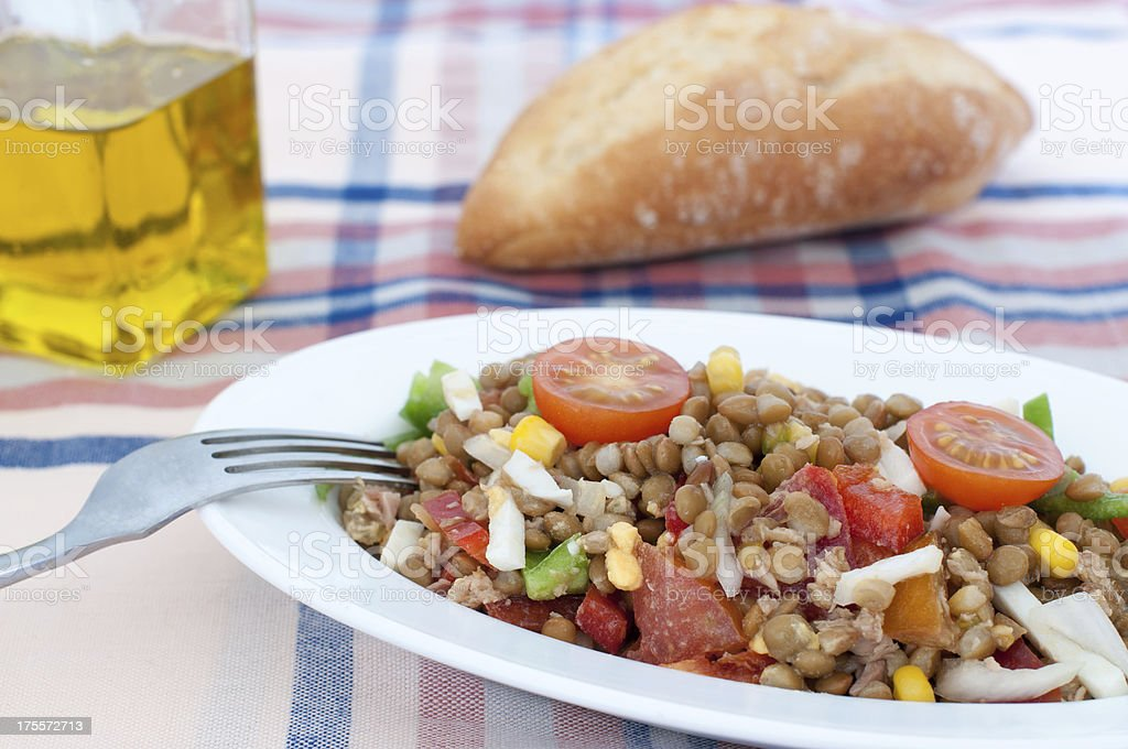 Lentil Salad royalty-free stock photo