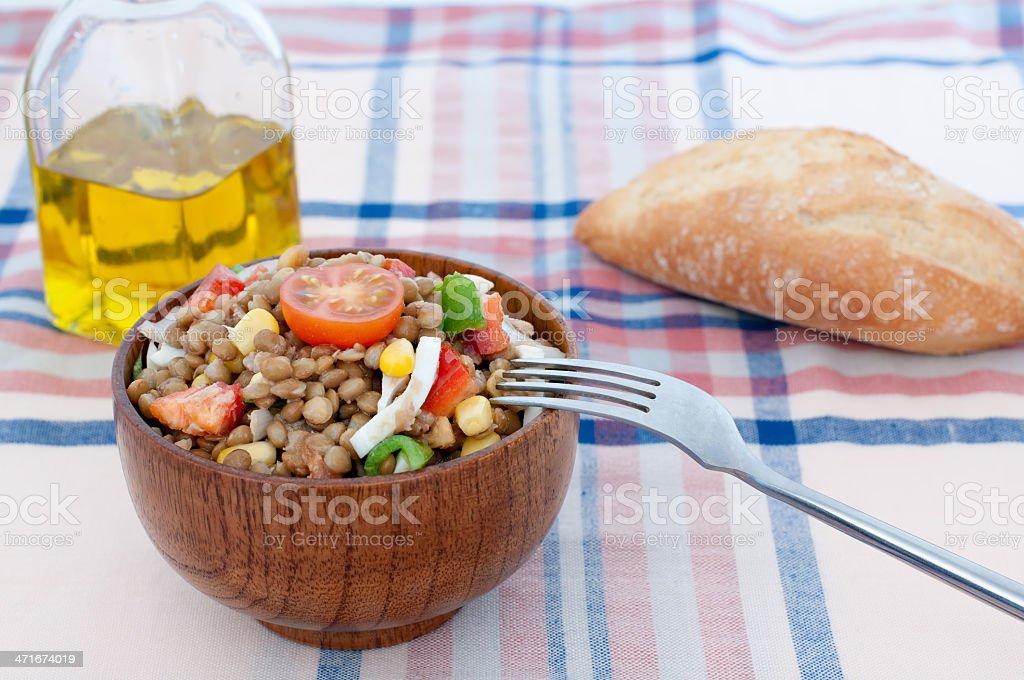 Lentil Salad royalty-free stock photo