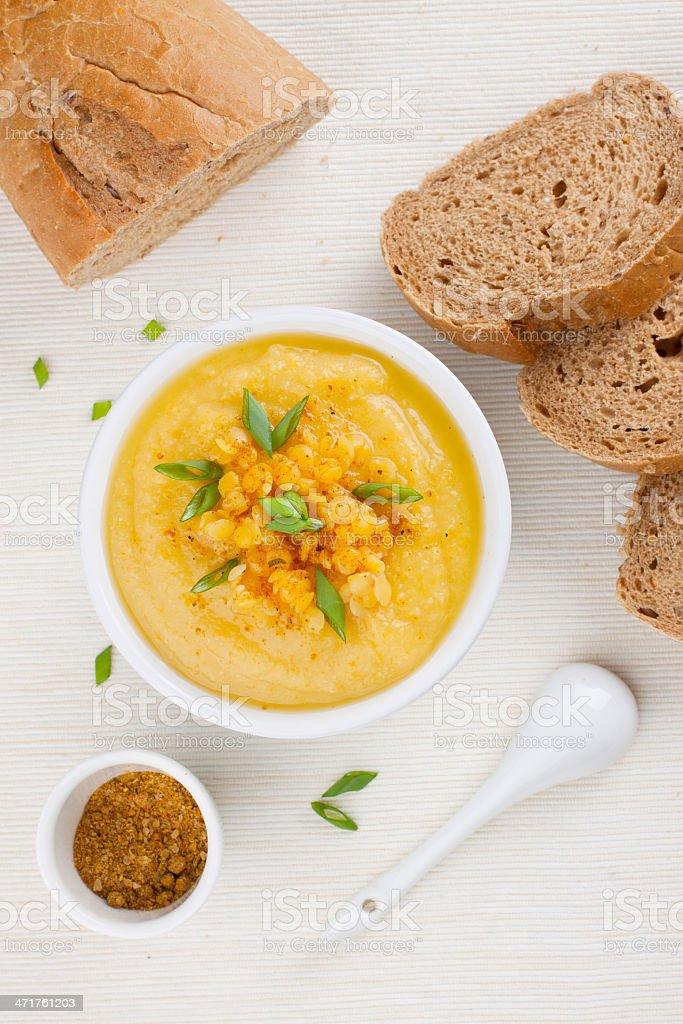 Lentil soup royalty-free stock photo