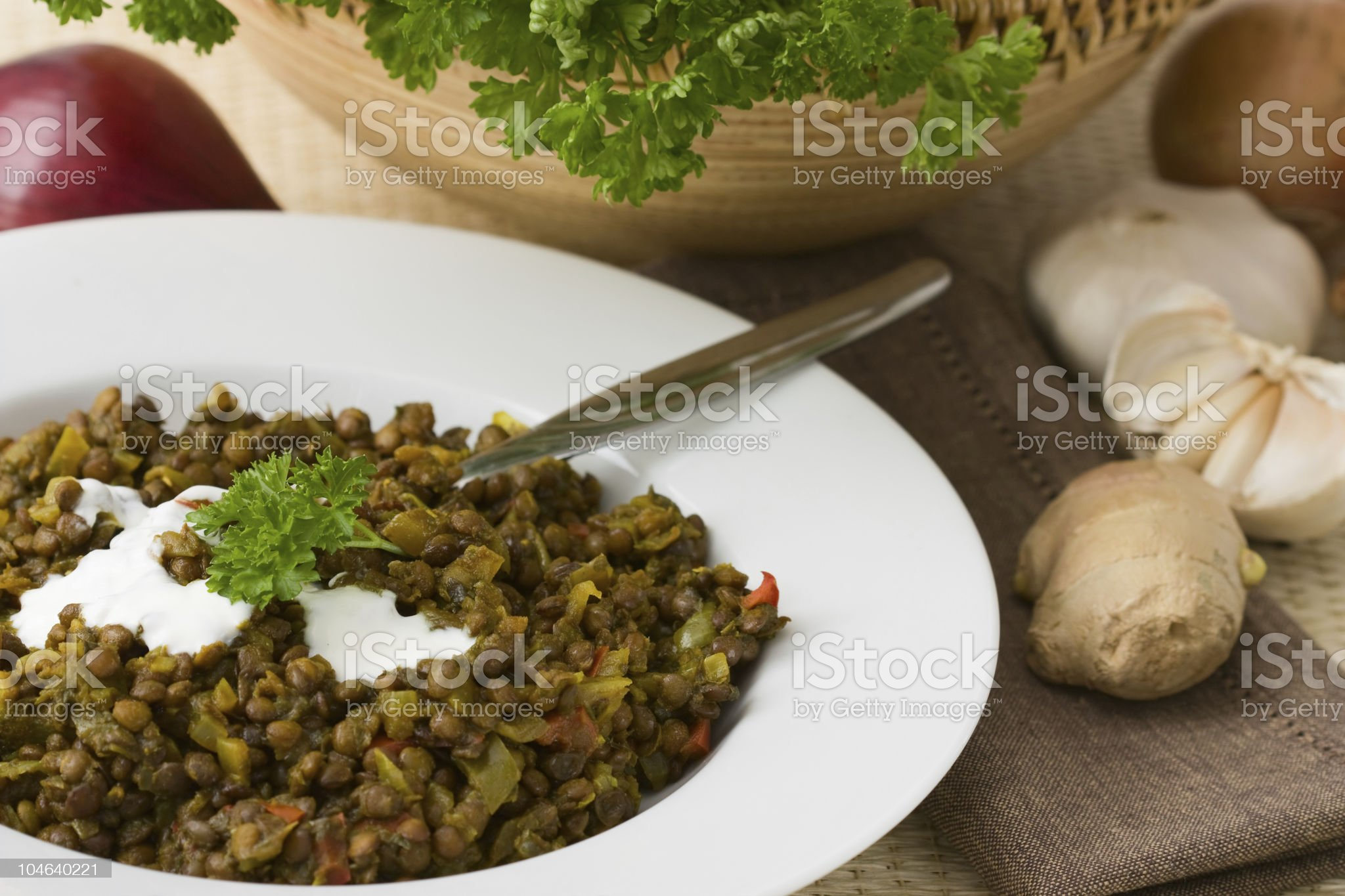 Lentils Hotpot royalty-free stock photo