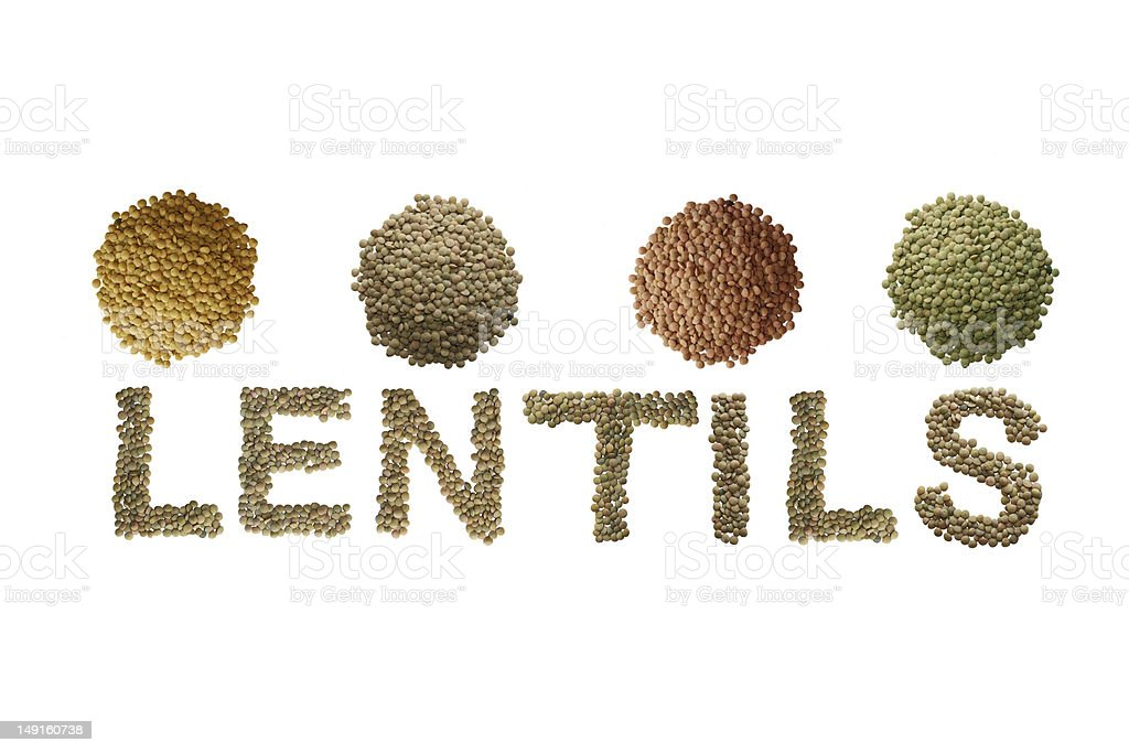 Lentils in Isolation royalty-free stock photo