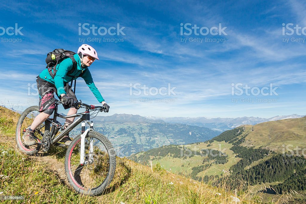 Lenzerheide Summer Mountainbiking, Switzerland stock photo
