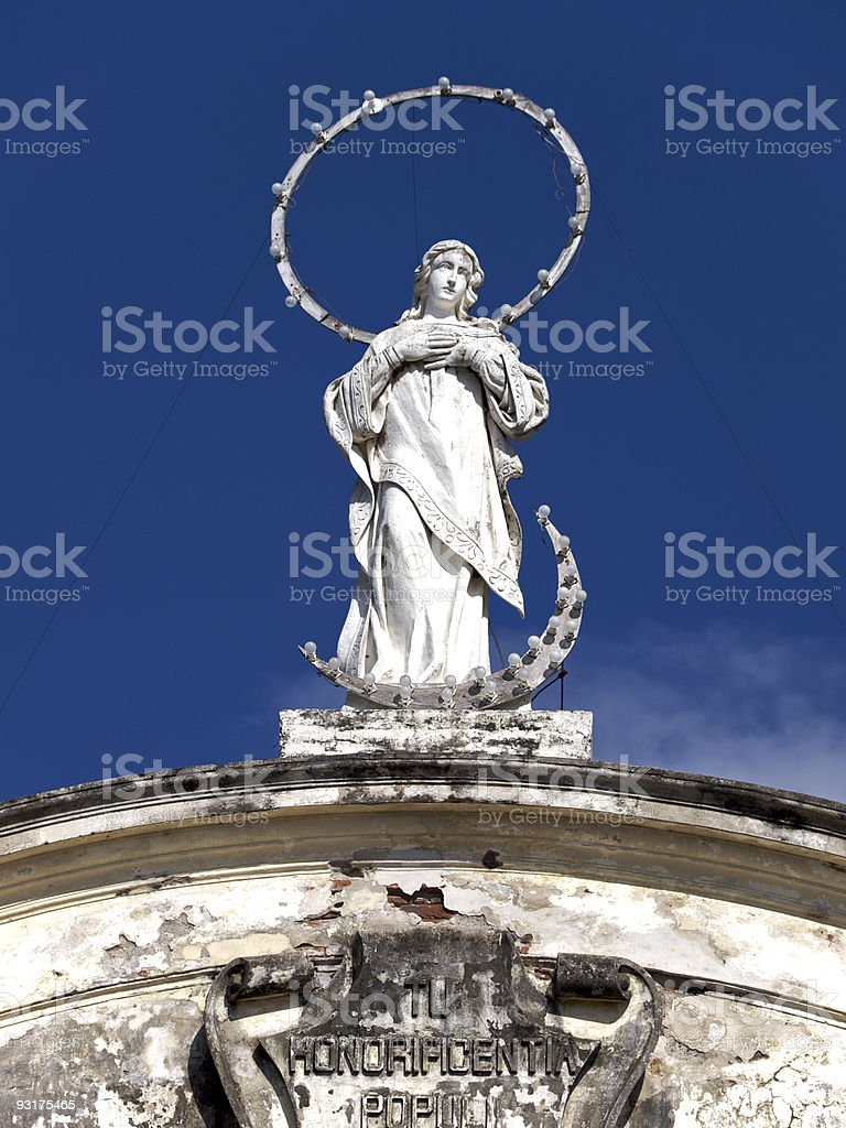 Leon Cathedral  Nicaragua stock photo