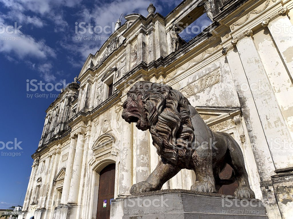 Leon Cathedral, Nicaragua stock photo