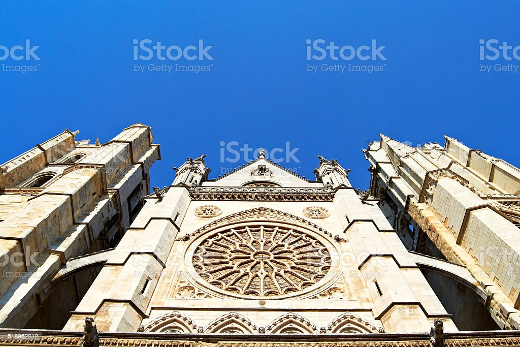 Leon Cathedral, Spain stock photo