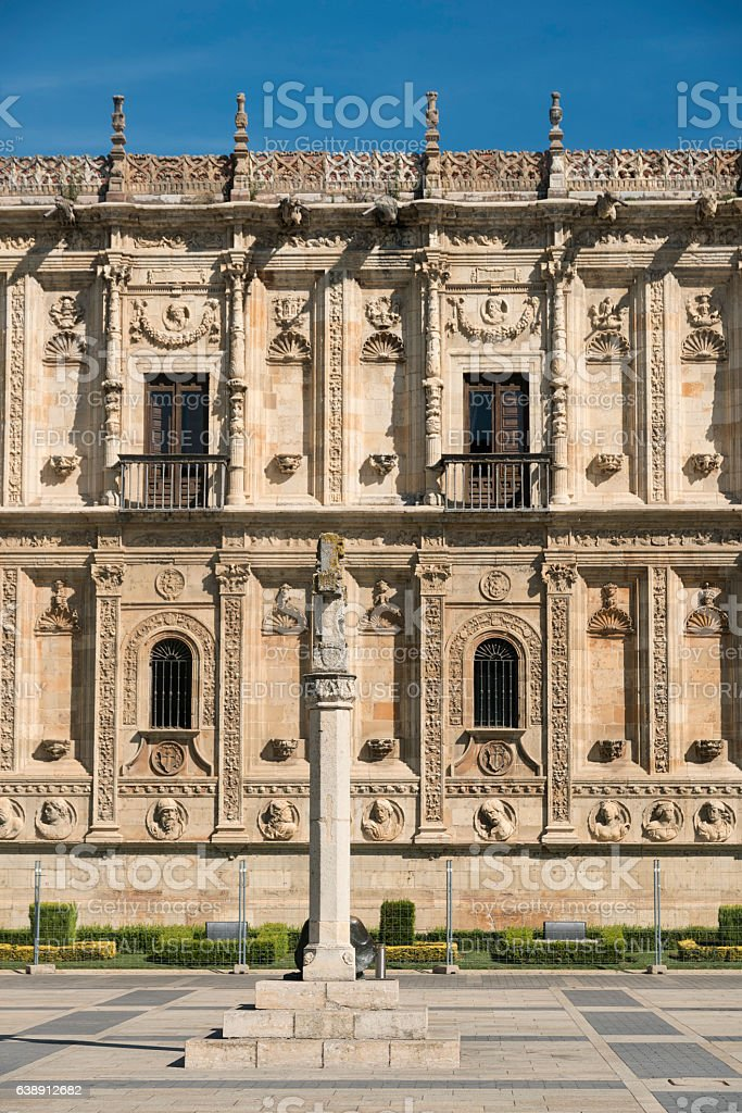 Leon (Spain): San Marcos palace stock photo
