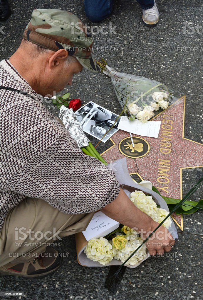 Leonard Nimoy Tribute stock photo