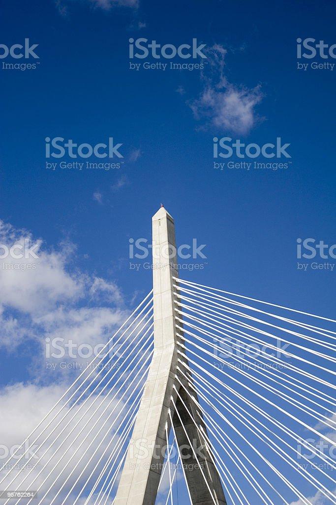 Leonard P. Zakim Bridge in Boston royalty-free stock photo