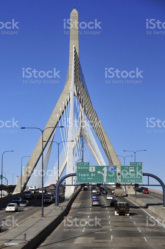 Leonard Zakim Bridge, Boston royalty-free stock photo
