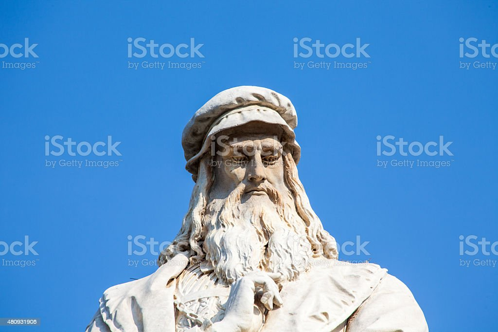 Leonardo da Vinci , Close-up, Portrait stock photo