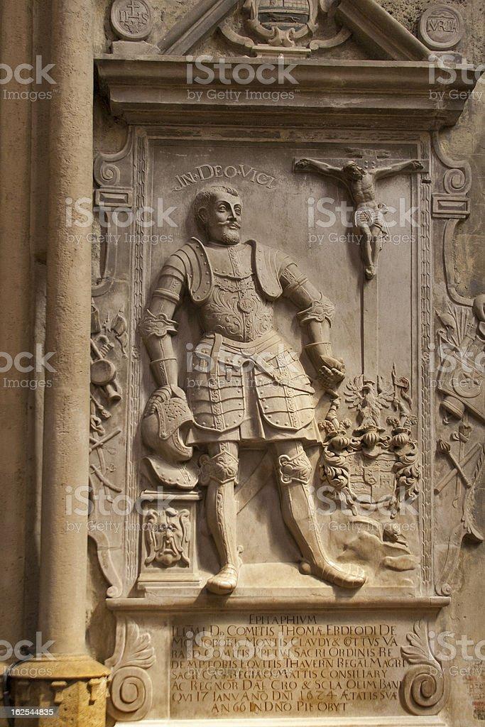 Leonardo da Vinci stone bas in Zagreb royalty-free stock photo