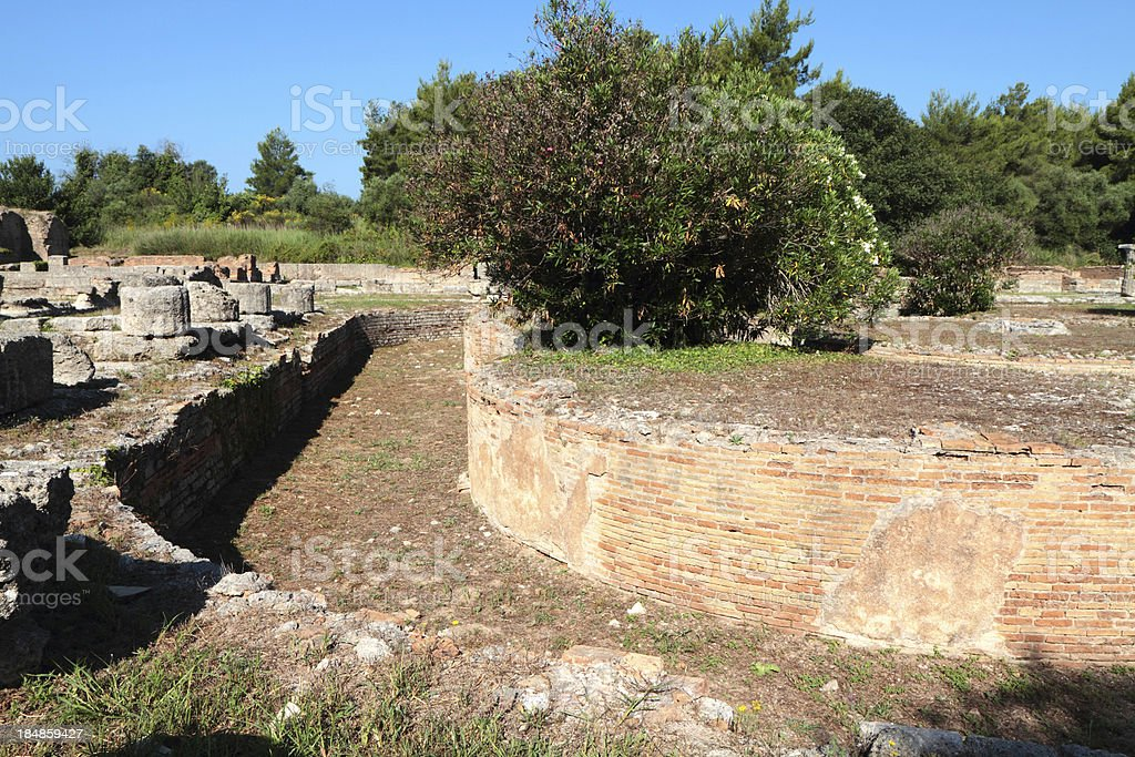 Leonidaion, Ancient Olympia, Illia Region,  Peloponnese, Greece stock photo