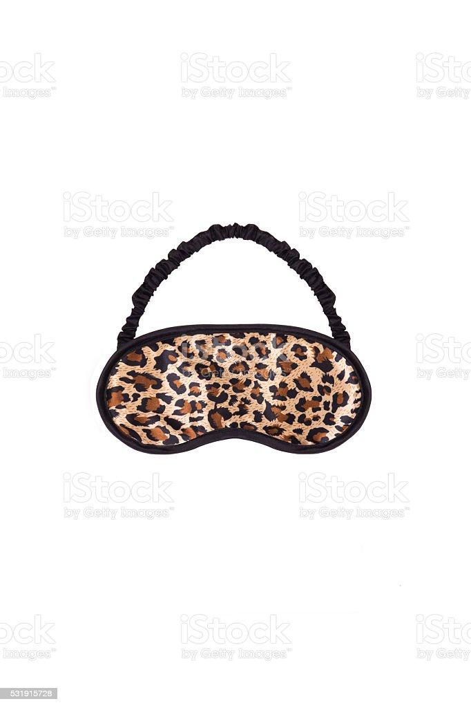 leopard blindfellen on a white background stock photo