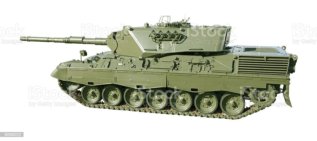 Leopard Military Tank on White royalty-free stock photo