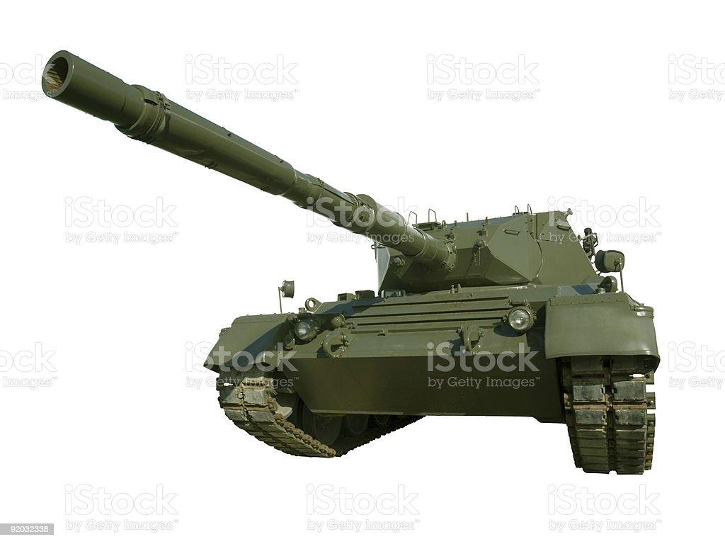 Leopard Military Tank on White royalty-free stock photo
