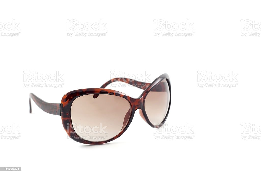 Leopard pattern sunglasses stock photo