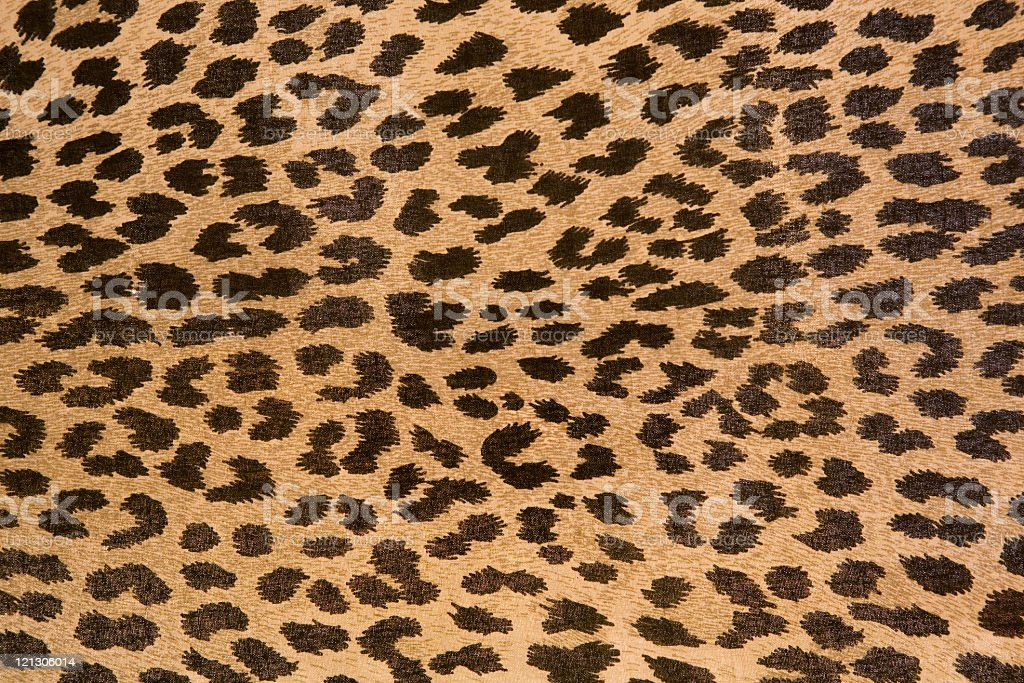 Leopard patterned fabric pattern stock photo
