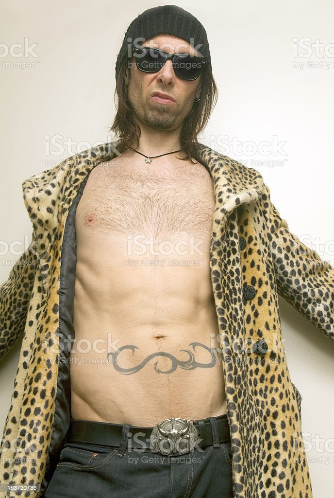 Leopard Print Guy royalty-free stock photo