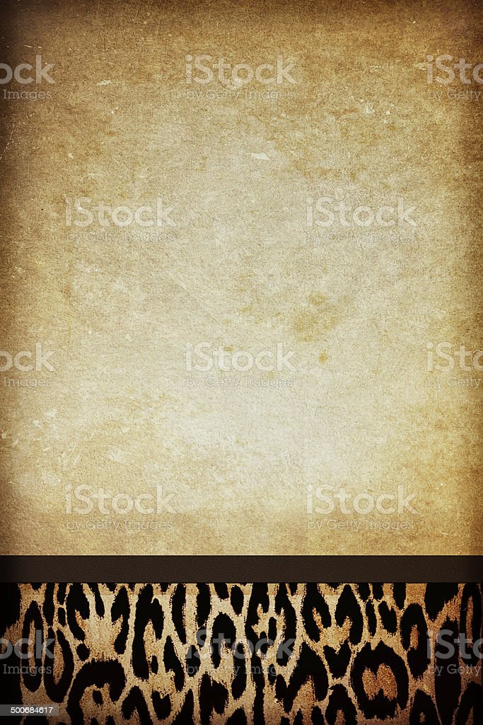 Leopard Print Paper royalty-free stock photo