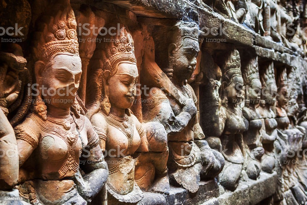 Leper King Terrace at Angkor Thom, Siem Reap, Cambodia stock photo