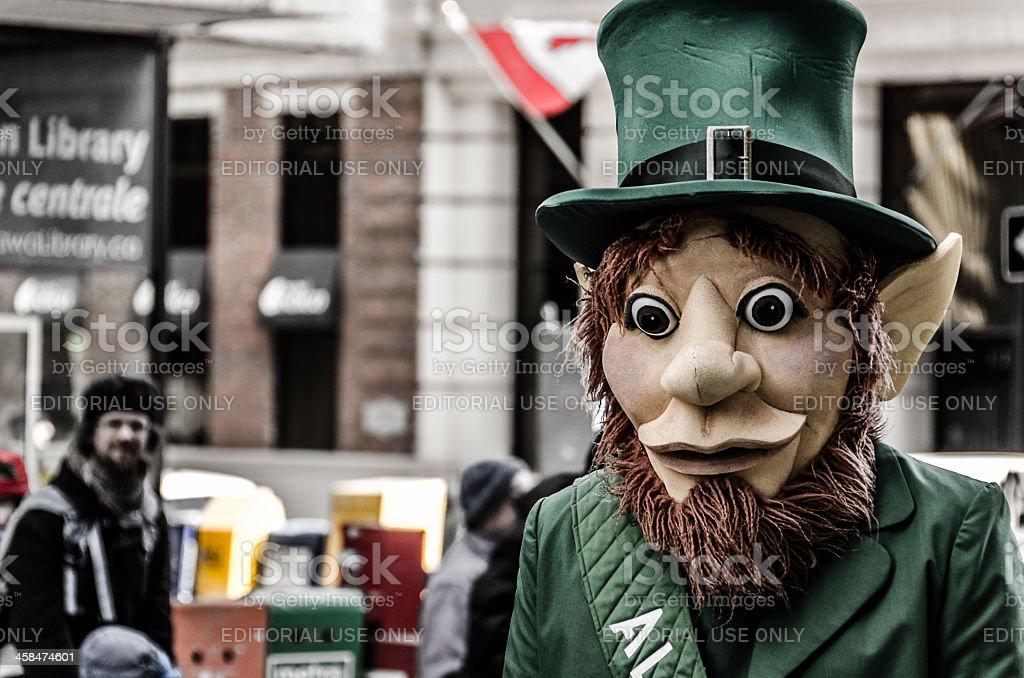 Leprechaun at the 2013 Ottawa St-Patrick's Day Parade royalty-free stock photo