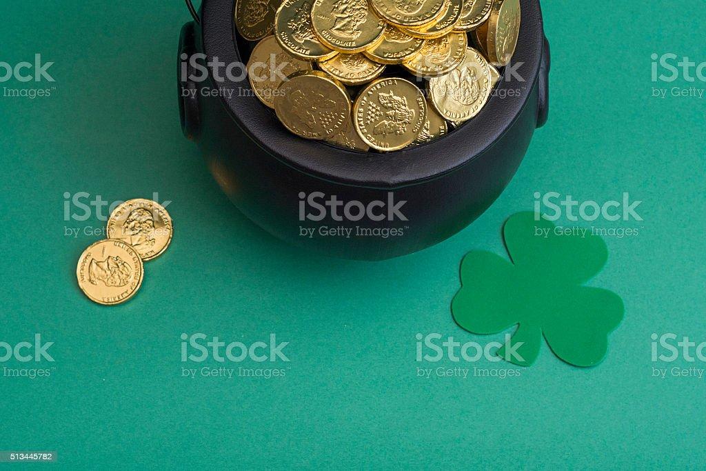 leprechaun gold for saint patricks day stock photo