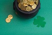 leprechaun gold for saint patricks day