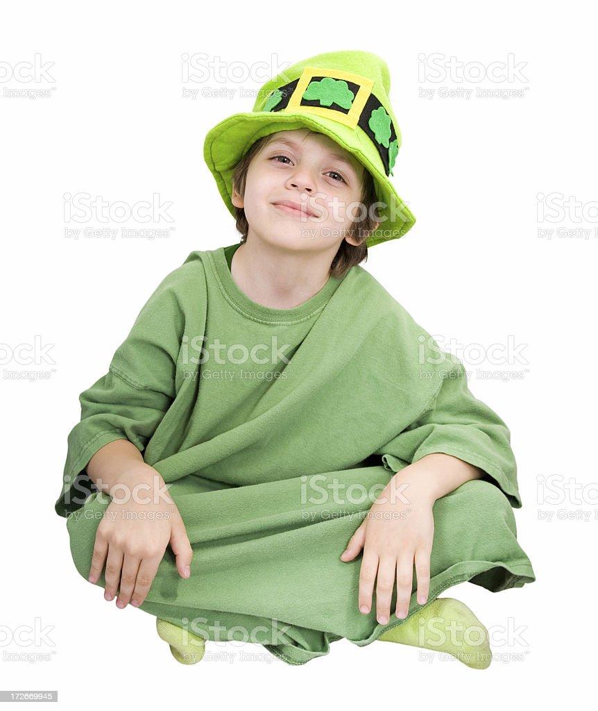 Leprechaun Kid Smiling stock photo