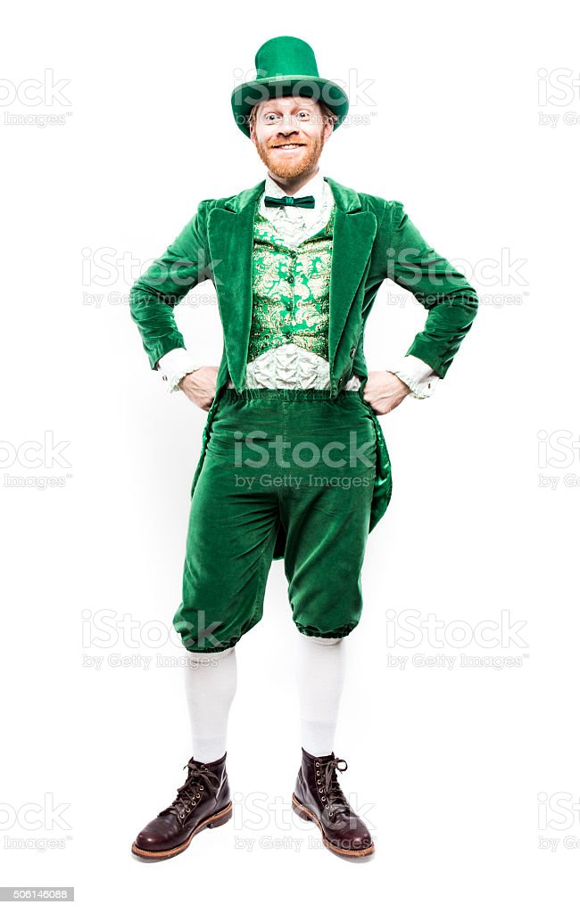 Leprechaun Man on Saint Patricks Day stock photo