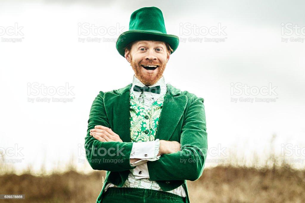 Leprechaun Man on Saint Patricks Day stock photo