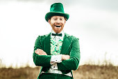 Leprechaun Man on Saint Patricks Day