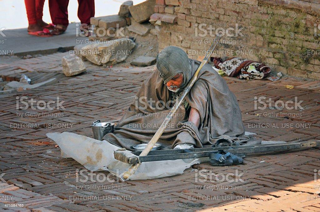 Leprosy in Nepal stock photo