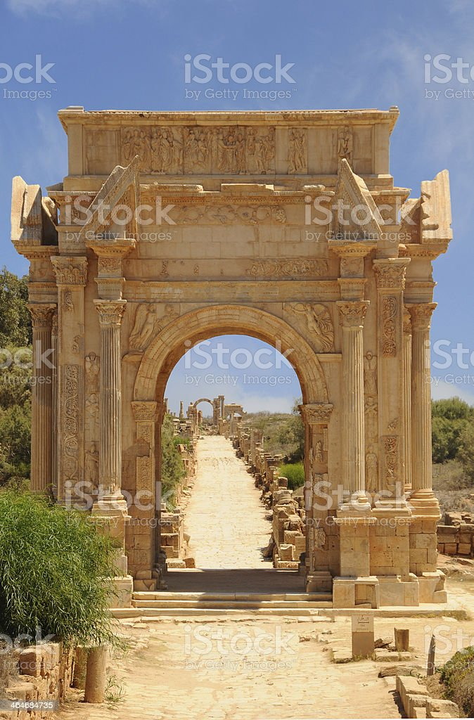 Leptis Magna, Arch stock photo