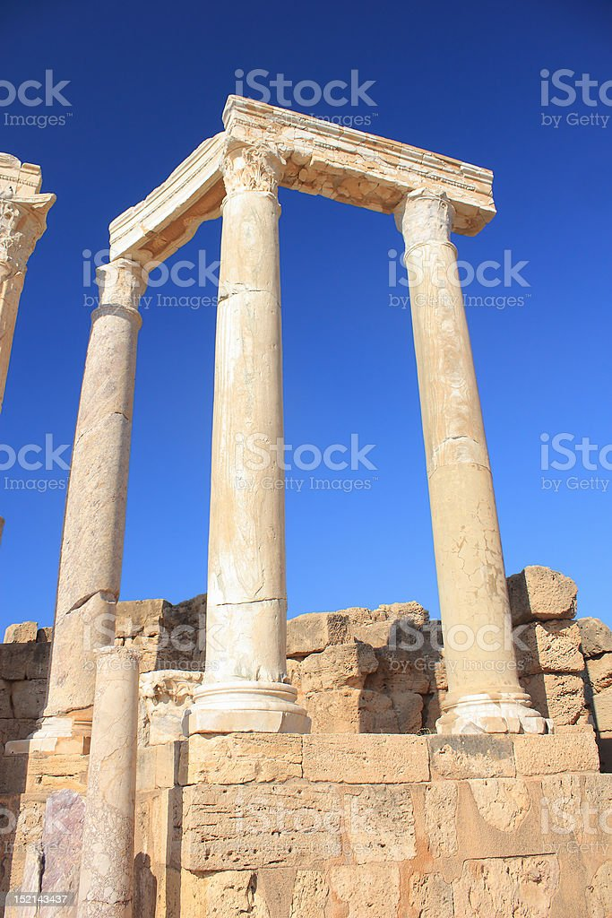 Leptis Magna stock photo
