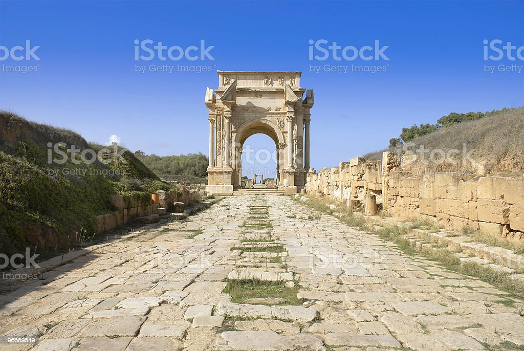 Leptis Magna stock photo