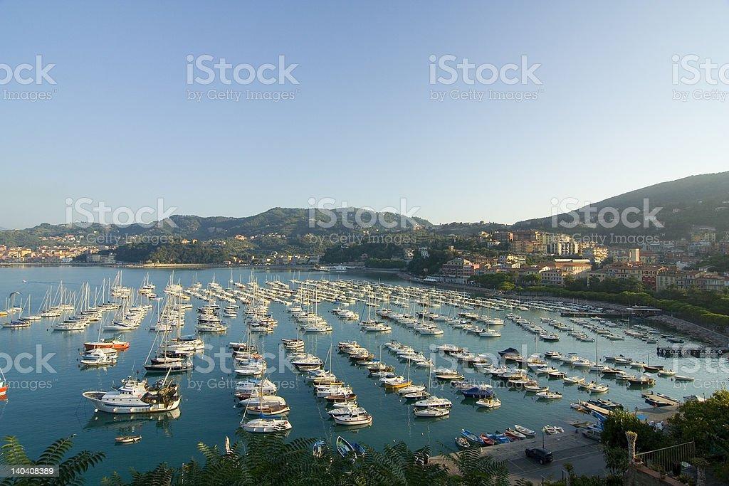 Lerici harbour stock photo