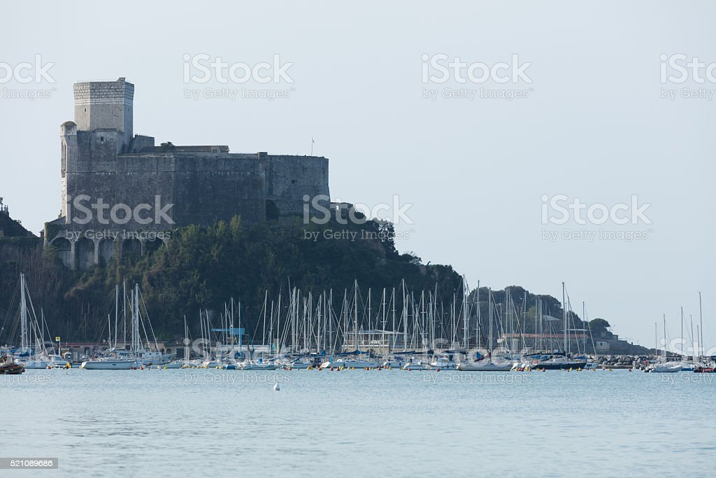 Lerici, Italy  view of port stock photo