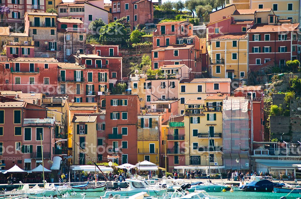 Lerici, the pearl of the Tuscan coast stock photo