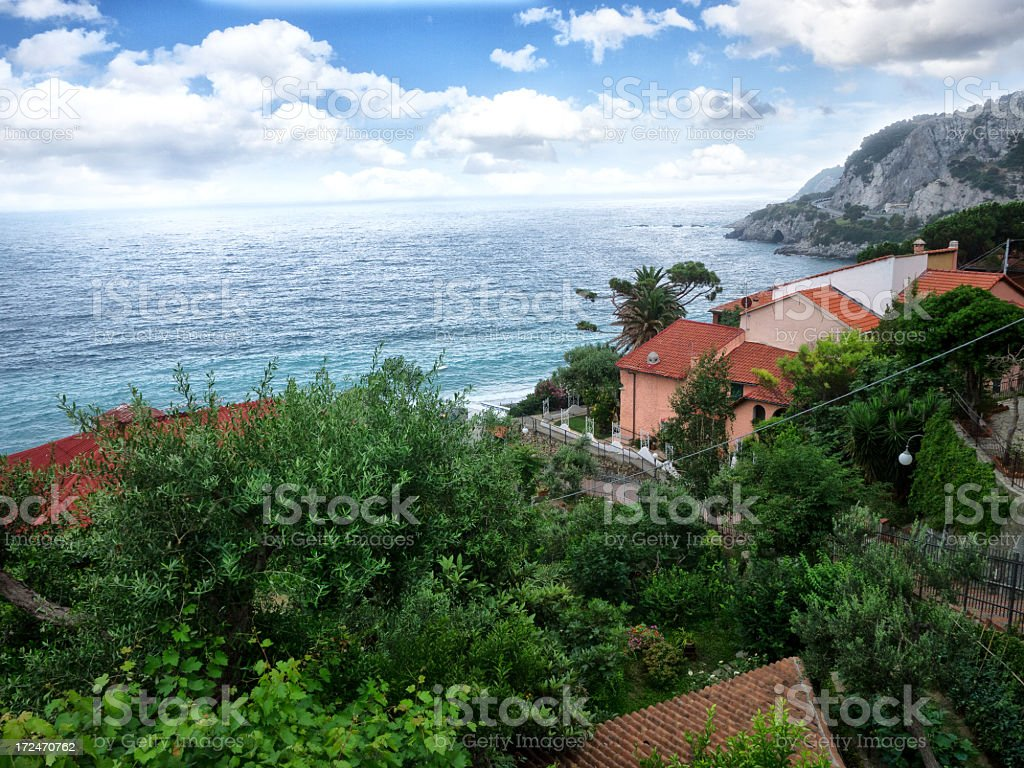 Lerici typical village in Liguria, Italy. stock photo