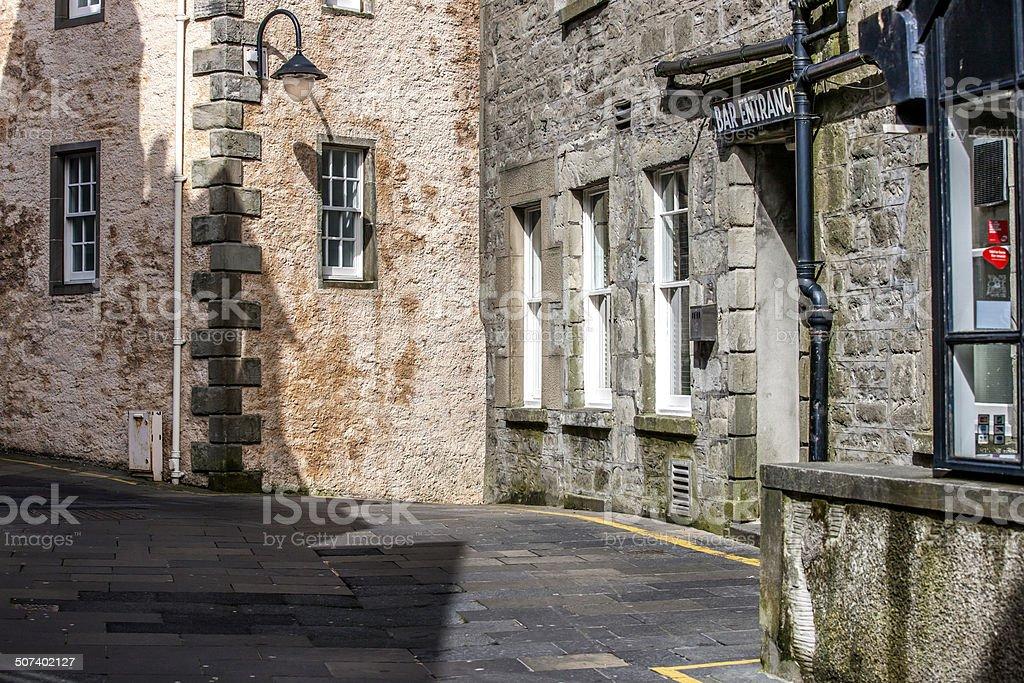 Lerwick City, Street view, Scotland stock photo