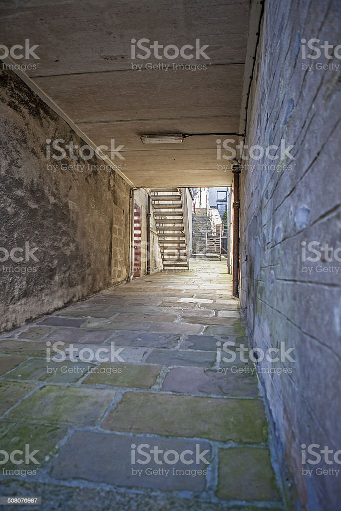 Lerwick City,old passage,Scotland2 stock photo