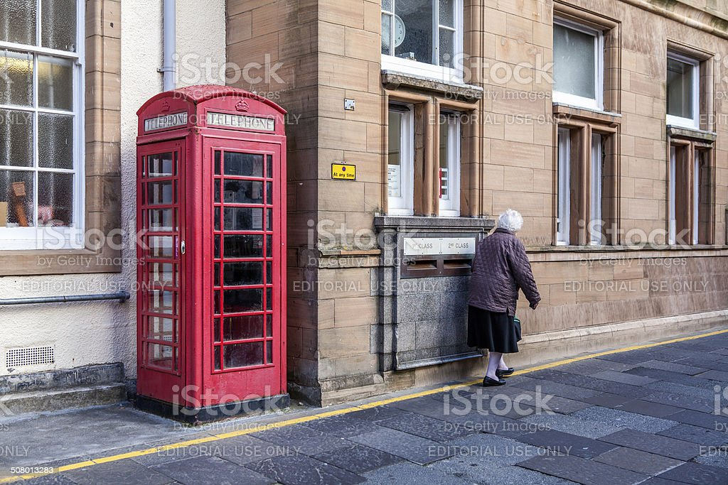 Lerwick downtown,Scotland stock photo