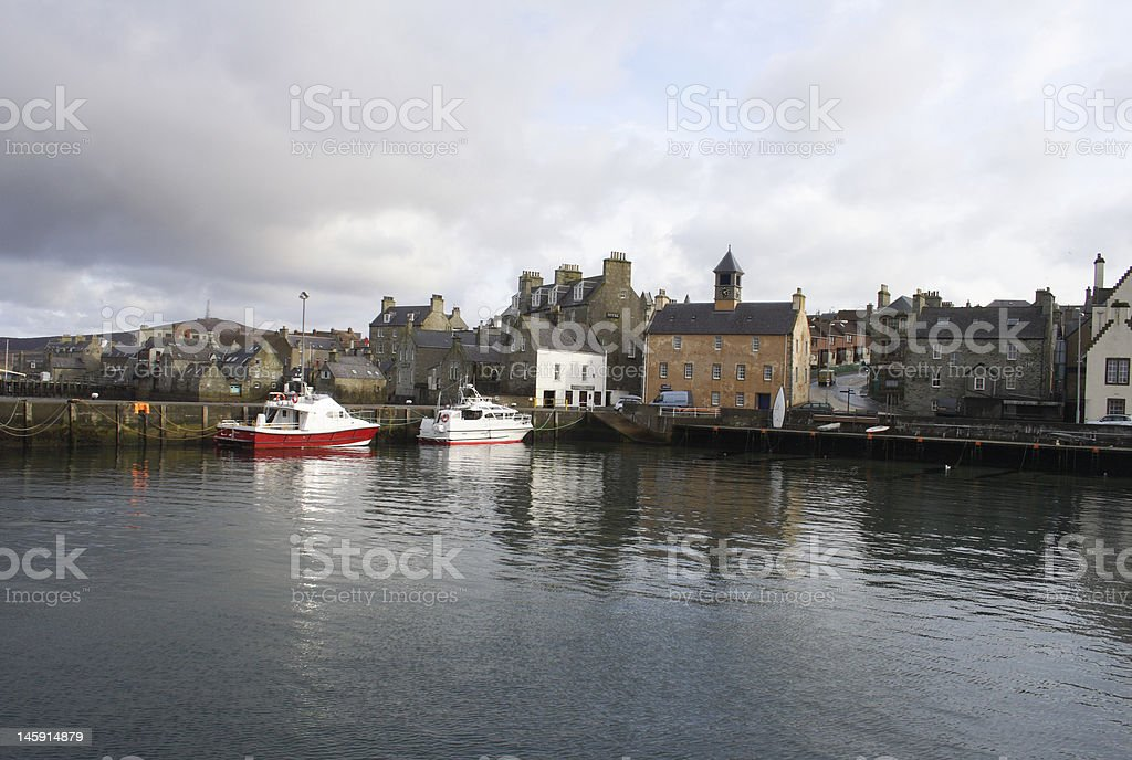 Lerwick Harbour royalty-free stock photo